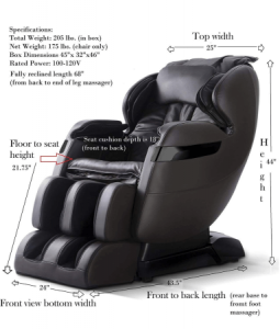 Best Massage Chair For The Money Dimensions